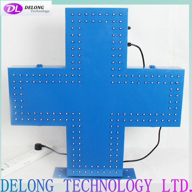 70X70cm flash blue outdoor electric led cross display