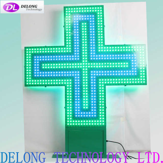 142X120X10cm double sided flash led pharmacy display