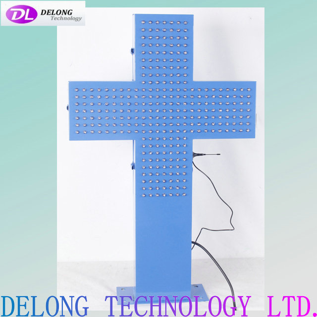 50X50cm blue non programmable led pharmacy cross display