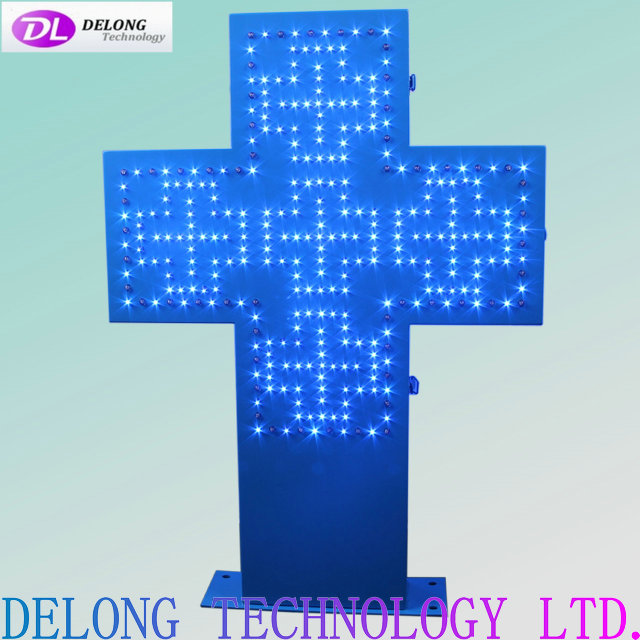 85X60cm outdoor electric led flash cross