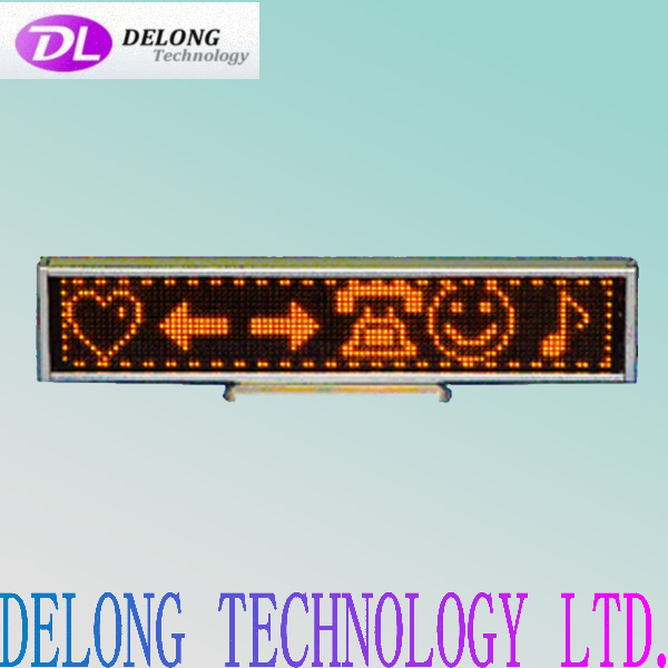usb 16X96pixel yellow dot matrix 6 characters aluminium scrolling led moving sign