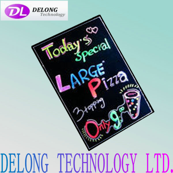 50X70cm hand control and remote control refined tempered Glass electronic led advertising board