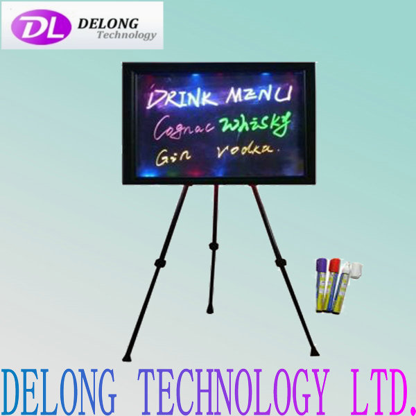 60x80cm led marker writing board with tripod, remote control, 8 different marker pens and cleaning cloths