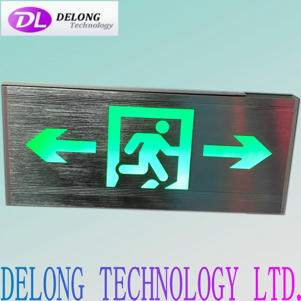 wall mounted 35X16X2cm left right direction led emergency light exit sign