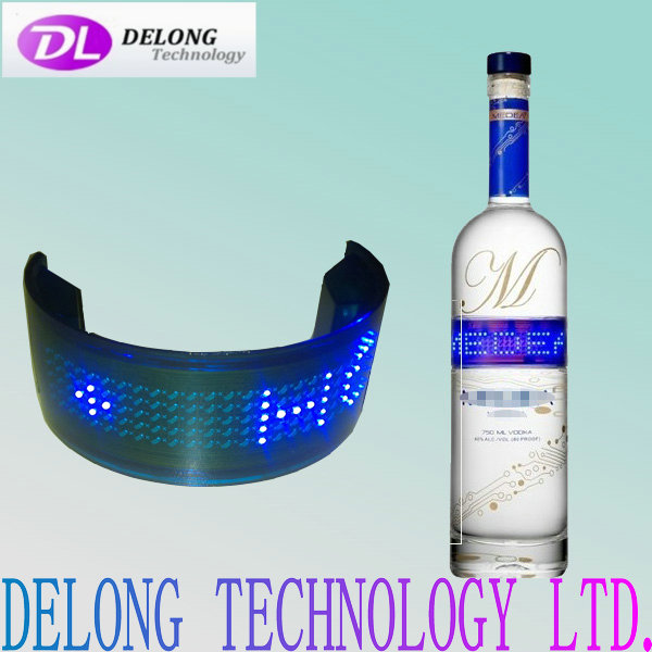 5X25pixel flexible led bottle sign