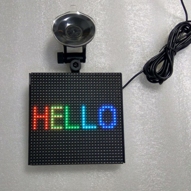 32X32pixel rgb mobile bluetooth control led smile sign for car