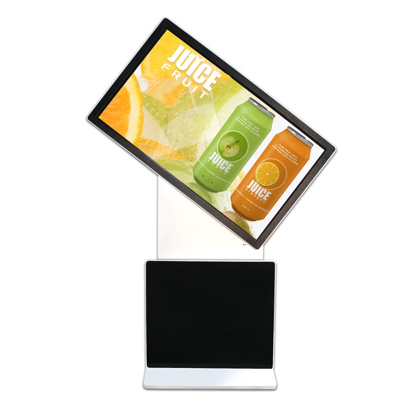 55 inch Touch LCD 4K Rotate Screen Floor Stand All in One PC kiosk for advertising